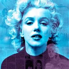 Marilyn - headline news - blue - green - 290